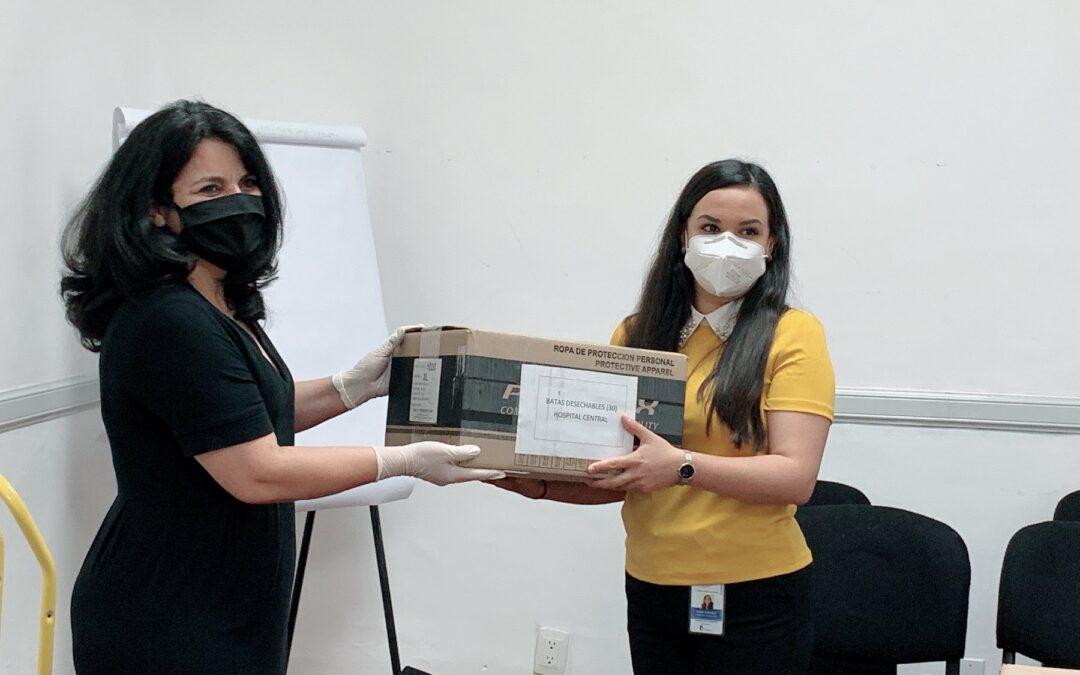 Con apoyo de Fundación Dibujando un Mañana, entregamos 3,594 piezas de material de protección médica a hospitales chihuahuenses