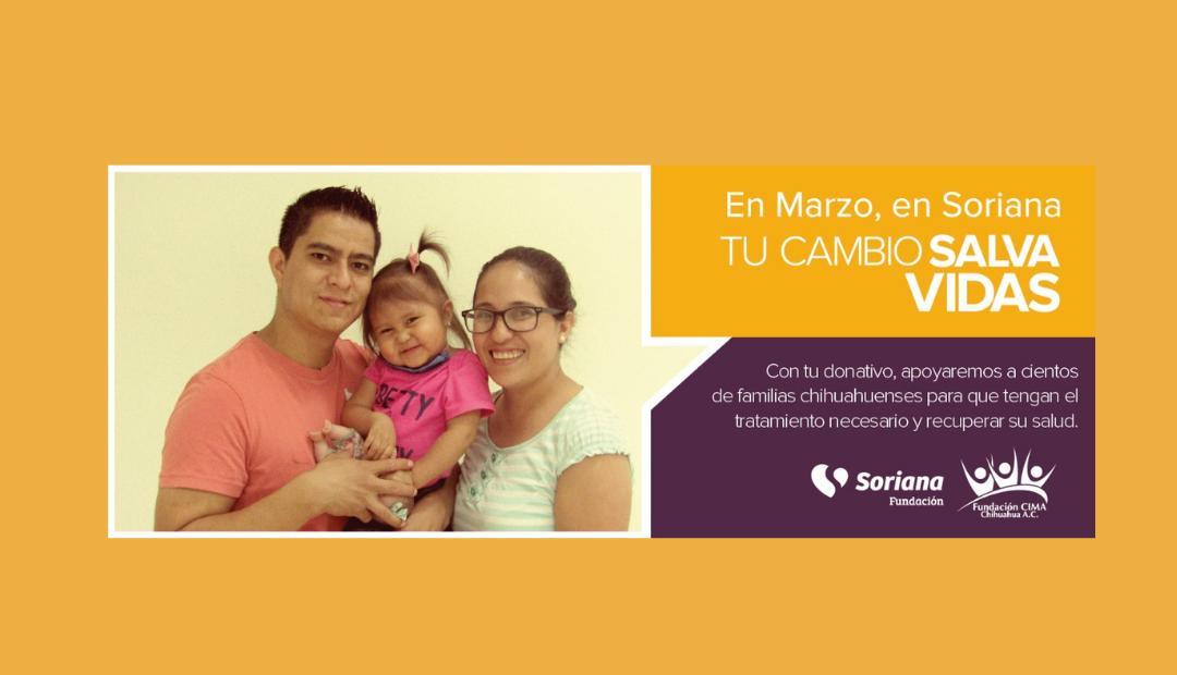 En marzo, donaciones de los clientes de Soriana se otorgarán a Fundación CIMA Chihuahua para apoyar tratamientos oncológicos